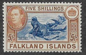 FALKLAND ISLANDS  94 MNH  SEA LIONS ISSUE  1938