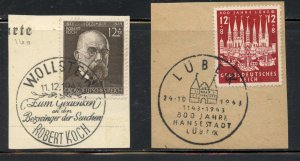 Germany # B251 and B249, on piece   (58)