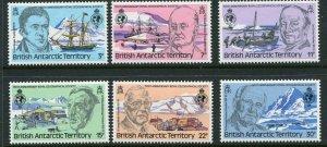 British Antarctic Territory Scott 76-81 1980 Royal Geographical Mint NH