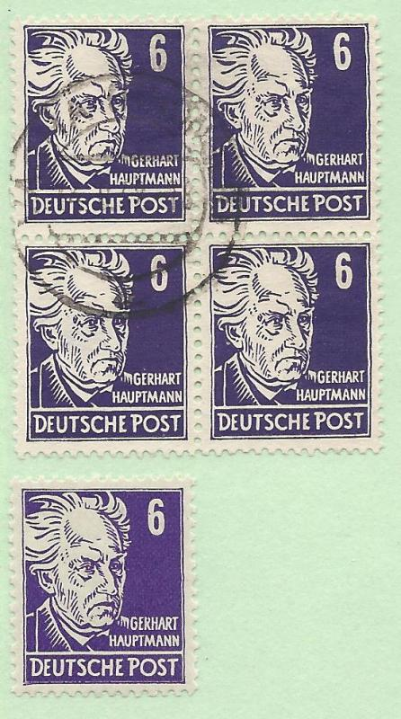 Germany #10N30, Used, Blk/4 + 1