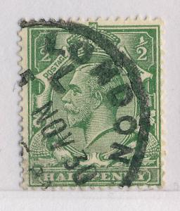 GB - 1930 - LONDON / L / 5 NOV 30 LATE FEE RUBBER CDS ON SG 418 1/2d GREEN