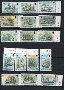 Falkland Islands 485-500 MNH