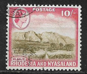 COLLECTION LOT OF # 170 RHODESIA & NYASALAND 1959 CV = $26
