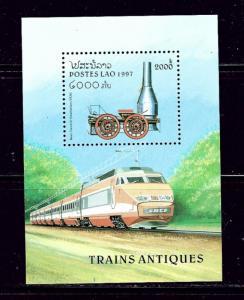 Laos 1311 MNH 1997 Train S/S