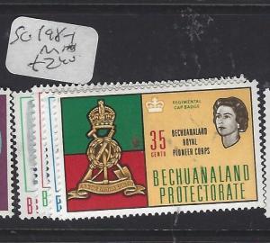 BECHUANALAND   (P2110B)  QEII   SG 198-201   MNH