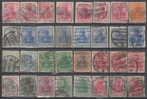 COLLECTION LOT OF #1186 GERMANY 32 GERMANIA STAMPS 1902+ CLEARANCE CV + $46