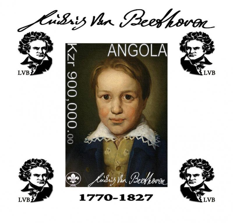 ANGOLA SHEET DELUXE COMPOSERS BEETHOVEN