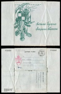 p388 - Scarce POLAND Forces in GB 1944 ILLUSTRATED Cover. New Year's. CENSORED