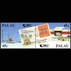 PALAU 1990 - Scott# 248a Pacifica Set of 2 NH