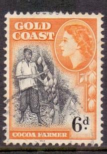 Gold Coast  1952    used  155       6d.    #