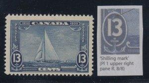 Canada, Unitrade 216i, MNH Shilling Mark Variety
