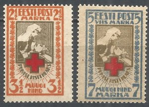 1921 Estonia 29-30 Red Cross 10,00 €