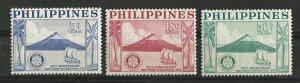 Philippines # 618-619, C77  Rotary Club   set      (1) Unused VLH