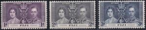 Fiji 114-116 MNH (1937)