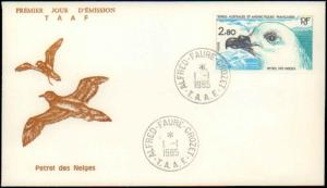 French Southern and Antarctic Terr., Birds, First Day Cover