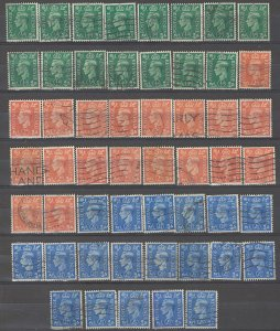 COLLECTION LOT # 3847 GB #258-62 15 STAMPS INVERTED WTMK 1937+ SWCV+$21