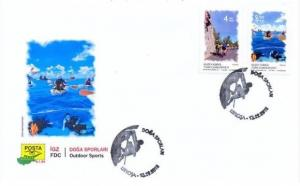 TURKISH NORTHERN CYPRUS/2018 -  (FDC) OUTDOOR SPORTS STAMP SET, MNH