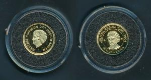 [99482] Aruba 2004 10 Florin Juliana 75 years Proof Gold 999 /  1,24 gram