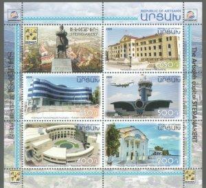 NEWS ARTSAKH KARABAKH ARMENIA 2020 STEPANAKERT VIEWS SHEETLET MNH R2021760m