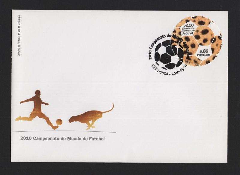 PORTUGAL FDC 2010 WORLD CUP  FOOTBALL SOUTH AFRICA CALCIO FUTBOL SPORTS Z1