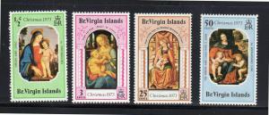 VIRGIN ISLANDS #262-265  1973  CHRISTMAS        MINT VF NH O.G