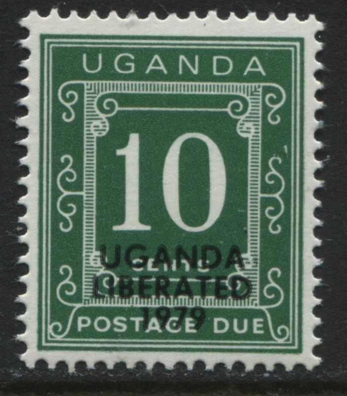 Uganda 1973 10¢ Postage Due overprinted Uganda Liberated 1979 mint NH (JD)