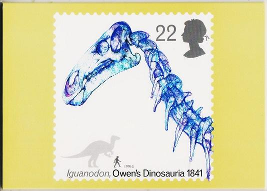 Great Britain. 1991 Dinosaurs. PHQ Cards(5) Unused