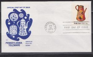 1775 Toleware Unaddressed Henley FDC