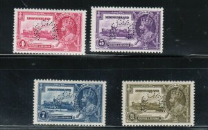 Newfoundland #226SP - #229SP Very Fine Never Hinged Set With Perforated Specimen