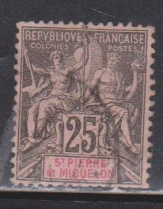 ST PIERRE & MIQUELON Scott # 70 Used