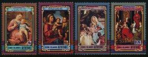 Aitutaki 447-50 MNH Christmas, Art, Madonna