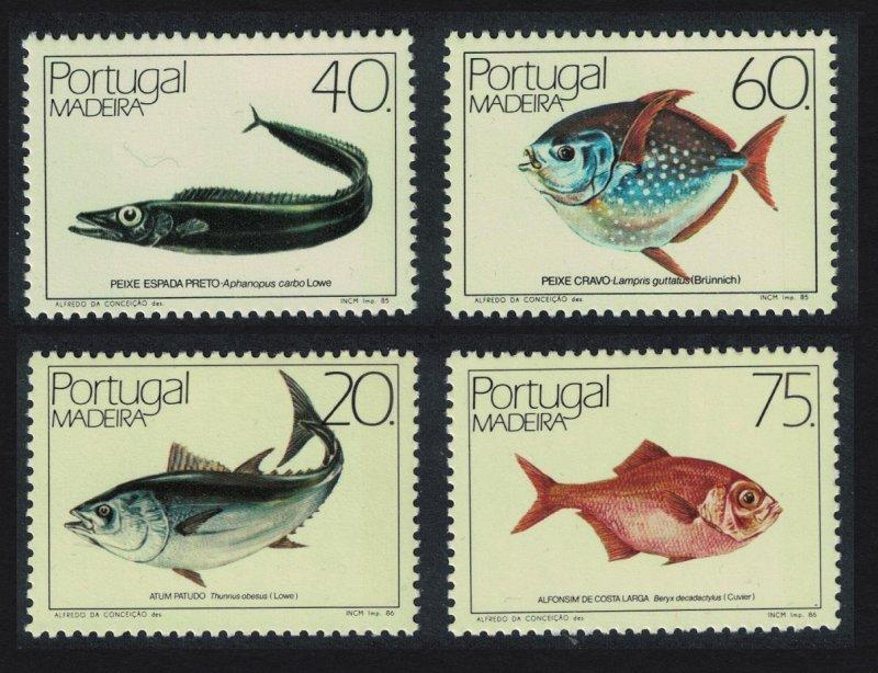 Madeira Fish 4v Joint set SG#216=223 SC#102-103