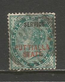 India-Patiala  #O4  Used  (1885)  c.v. $0.35