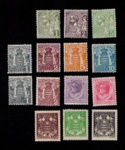 MONACO Sc 11-14 MH Lot Of (14) FOURTEEN Not A Complete Set 1891-1937 F-VF