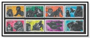 Rwanda #1158-1165 Gorillas Set MNH