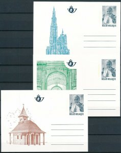 [I1088] Belgium 1985 Pope complete set of post card very fine quality $60