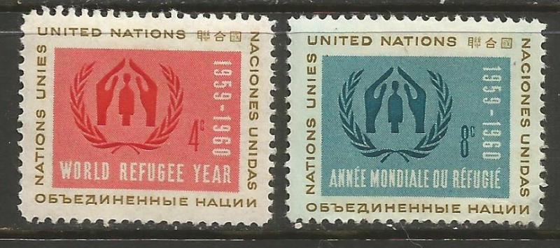 UNITED NATIONS 75-76 MOG W394