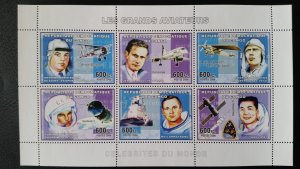 Aviation - Planes - Congo 2006 - sheet + complete set of 6 ss perforated ** MNH