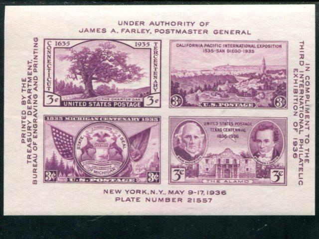 USA  Lot of 50 1936 sheets  Mint VF NH   -   LSP