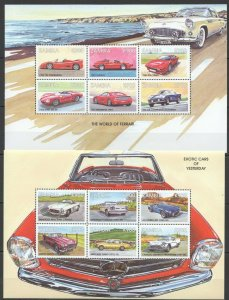 PK390 ZAMBIA TRANSPORT EXOTIC CARS OF YESTERDAY 2SH MNH STAMPS