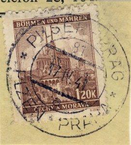 BÖHMEN u. MAHREN - 1941  PILSEN-PRAG  TPO n°81a bilingual CDS on Mi.41