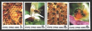 Cyprus. 1989. 722-25. Bees, flowers. MNH.
