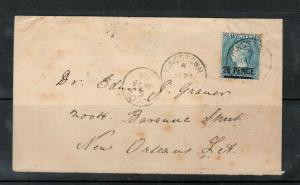 St Vincent #56a Used On Cover Layou Extended Village Datestamp