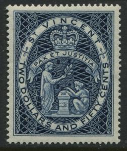 St. Vincent QEII $2.50 high value mint o.g.