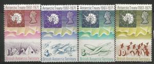 BRITISH ANTARCTIC TERRITORY 39-42, MNH, C/SET OF 4 STAMPS, 10TH ANNIVERSARY O...