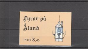 Aland  Scott#  67a  MNH Complete Booklet  (1992 Lighthouses)