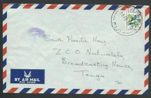 FIJI 1972 cover to Tonga. Savu Savu cds - T in circle Tax mark.............61749