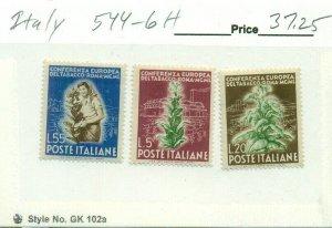 ITALY #544-6, Mint Hinged, Scott $37.25