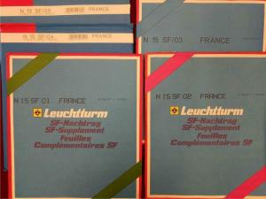 France Hingeless Album Pages Leuchtturm Stamp Collecting 2001-2005