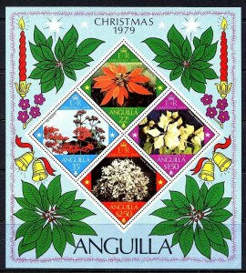 ANGUILLA - 1979 - CHRISTMAS - FLOWERS - POINTSETTIA - KALANCHOE + MNH S/SHEET!